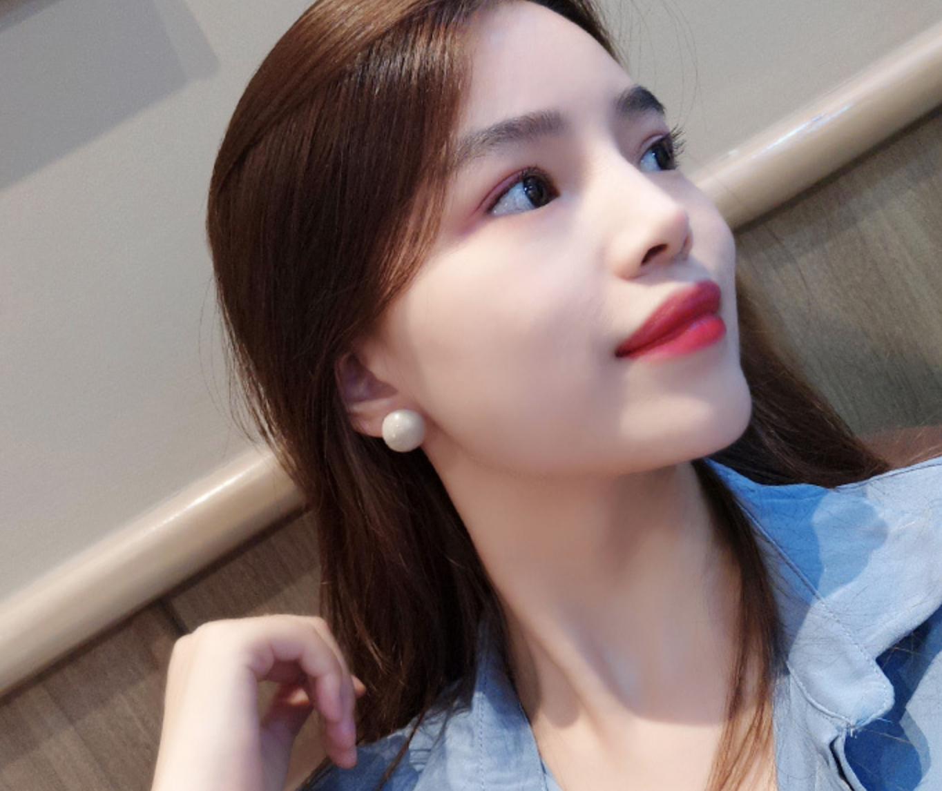 Tan Dot Earring