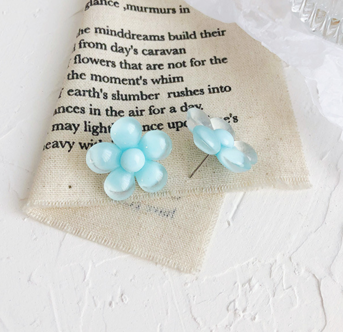 Baby Blue Bubble Flower Earring
