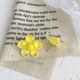Yellow Bubble Flower Earring