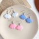 Pink Cloud Clip On Earring