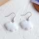 White Cloud Clip On Earring