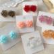 White Glass Flower Earring