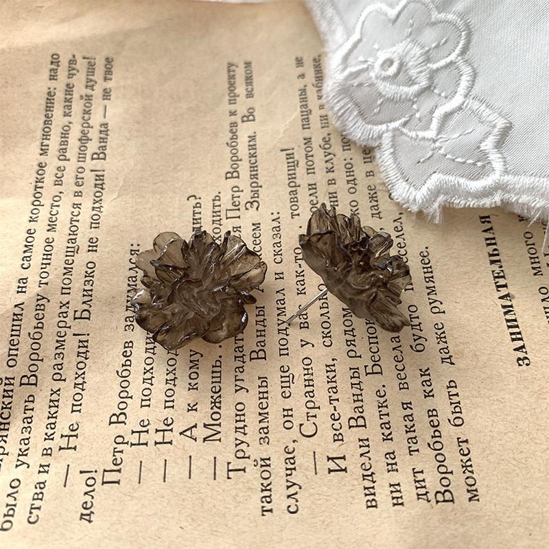 Brown Flower Earring