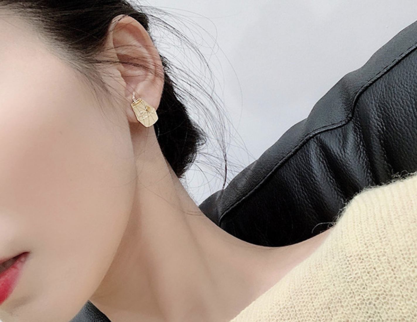Banana and Milk Earring
