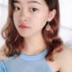 Dot Fan Purple Earring