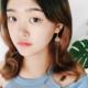 Dot Fan Blue Earring
