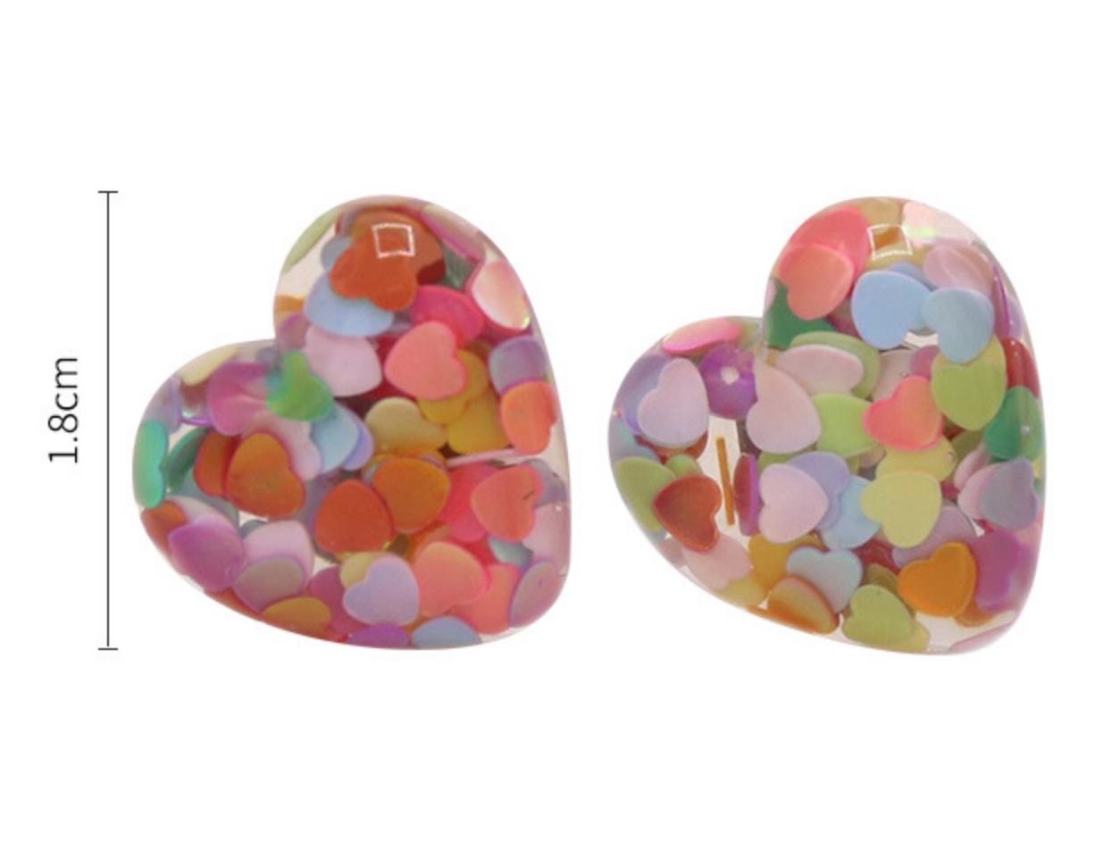 Purple Heart Earring