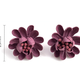Mauve Fabric Flower Earring