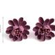 Lavender Fabric Flower Earring