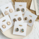 Marble Circle Blue Earring