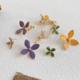 Purple/Grey Four Petal Earring
