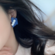 Three Dot on Blue Earring