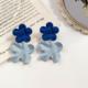 Blue Flower Petal Earring