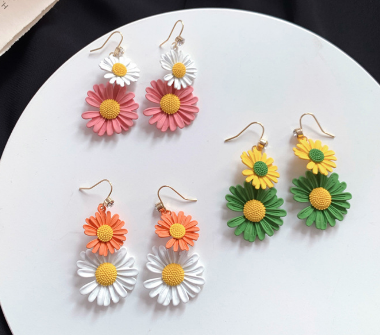 Yellow/Green Daisy Earring