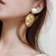 Yellow Blue Oval Pattern Earring