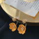 Crystal Yellow Flower Earring