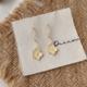 Yellow Petal Swirl Earring