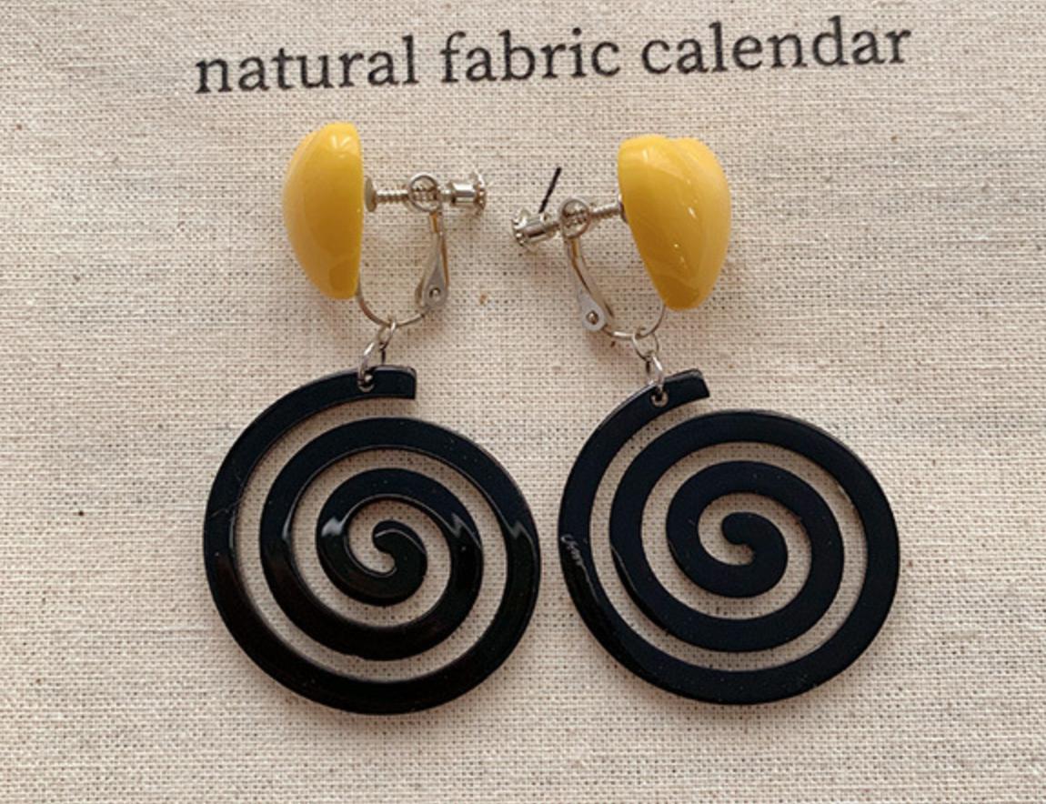 Black Spiral Earring
