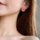 Orange Smile Face Clip On Earring