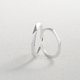 Geometric Brushed Silver Ring - Small