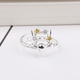 Deer Antler in Gold and Silver Flowers Ring