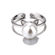 Kitty Ears with Pearl Ring