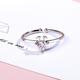 White Crystal Deer Ring