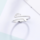 Silver Music Note Ring