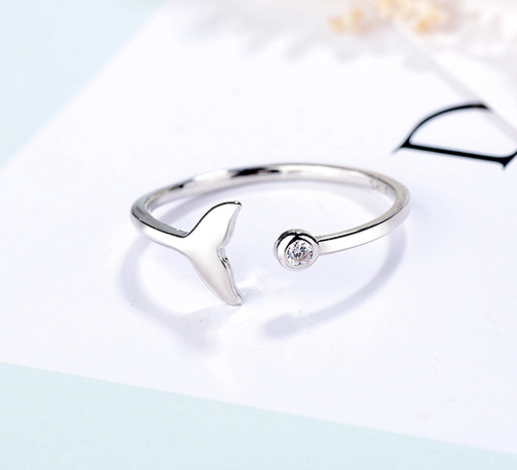 Fish Tail and Crystal Ring