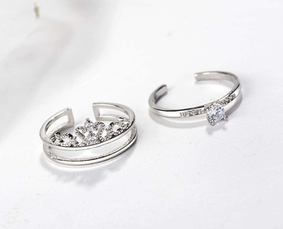 Crown and Crystal Insert Ring