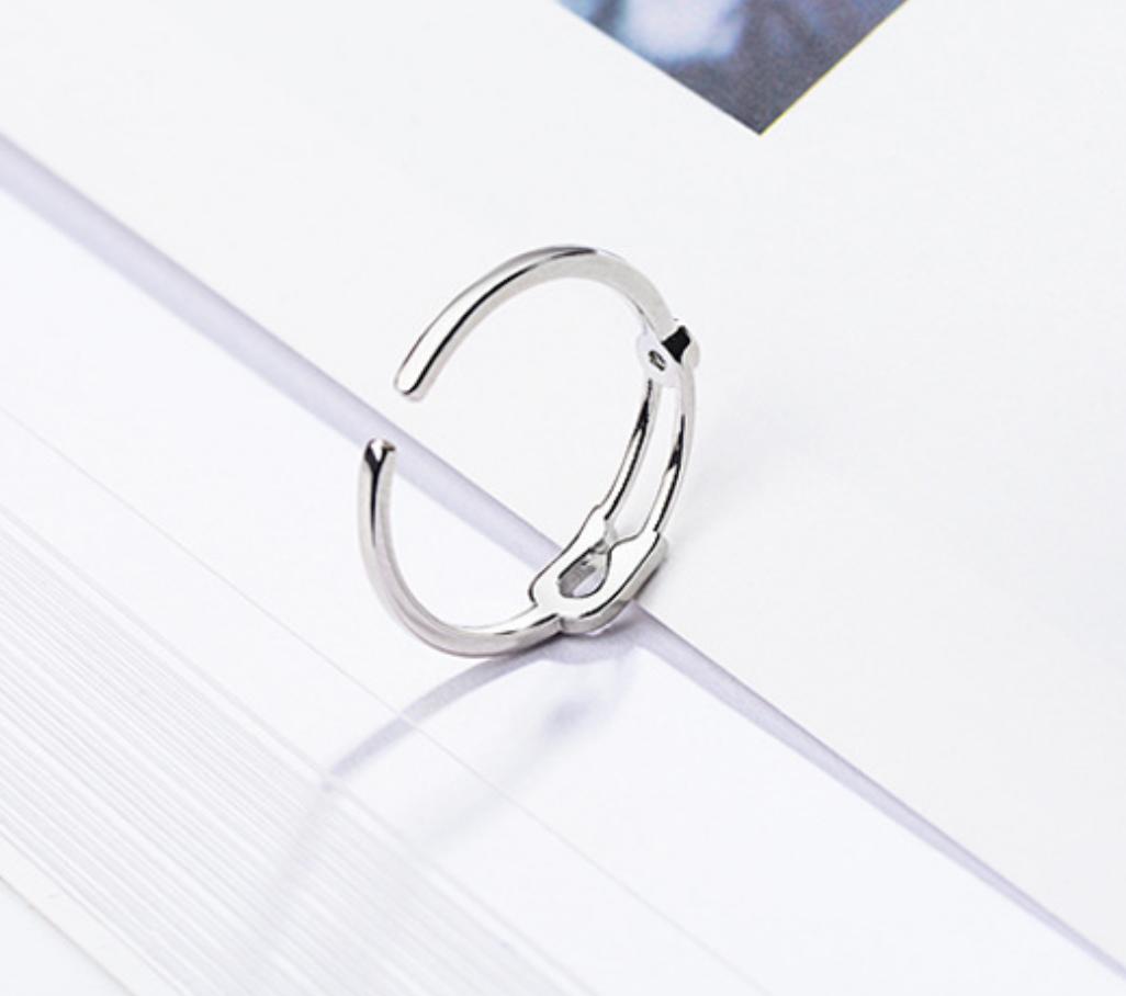 Silver Bobby Pin Ring