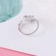 Pink Glass Deer Antler Ring