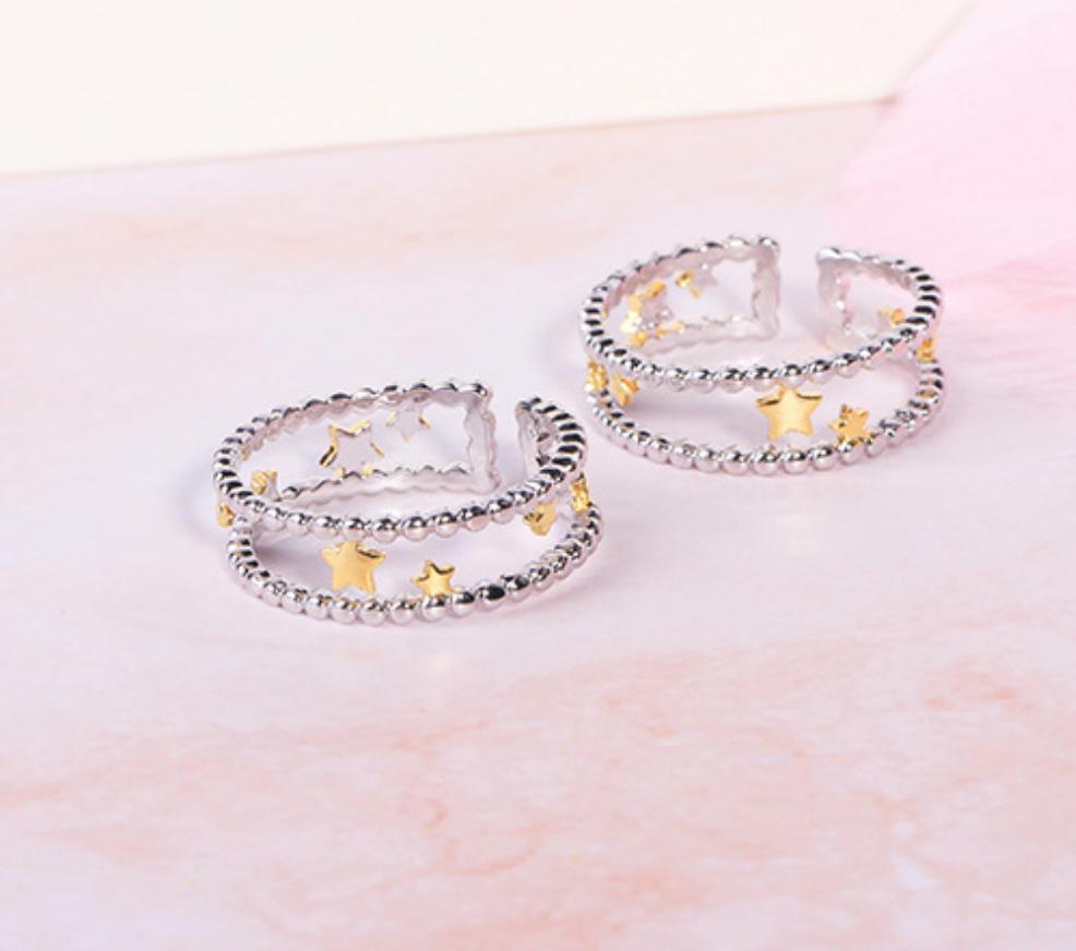 Gold Stars Ring