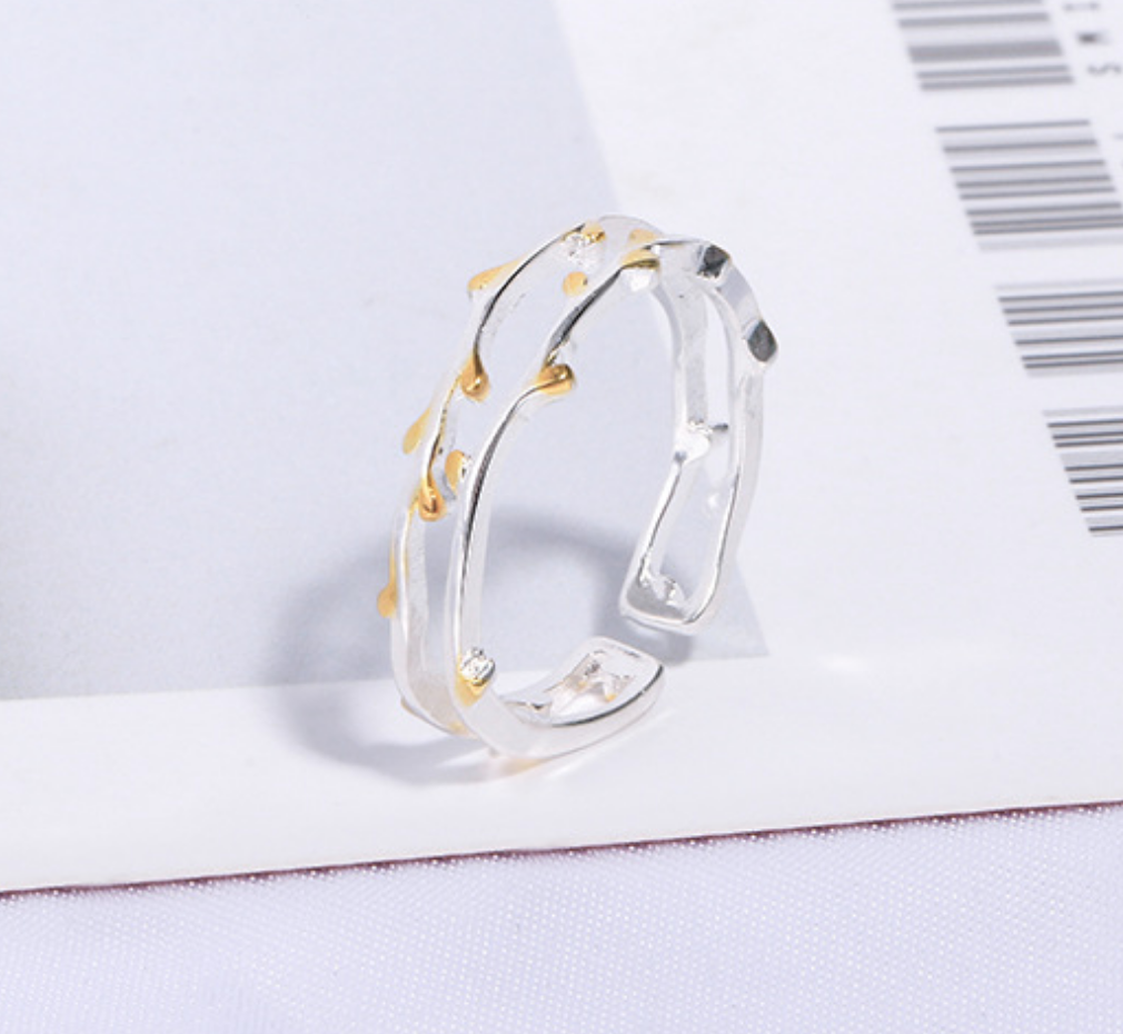Deer Antler Gold Tipped Ring