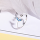 Blue Tail Crystal Dot Ring