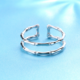 Double Band Bone Ring