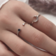 Blue Crystal and Star Ring