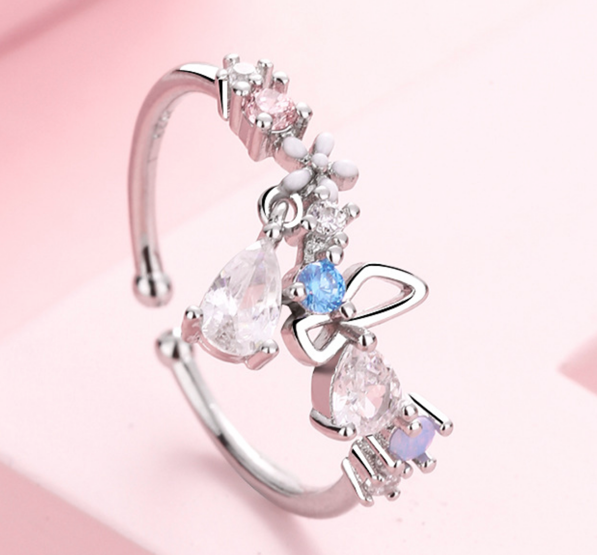 Butterfly Droplet Ring