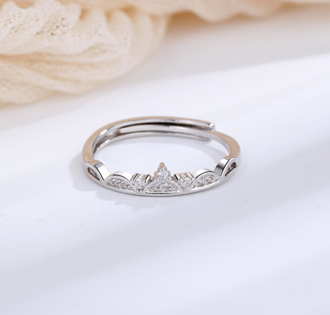 Crown with Crystals Ring
