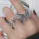 Silvery Butterfly Ring