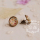 Colorful Dot Bronze Earring