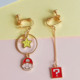 Super Mario Head Dangle Clip On Earring