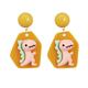 Pink Dinosuar Clip On Earring