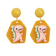 Pink Dinosuar Earring
