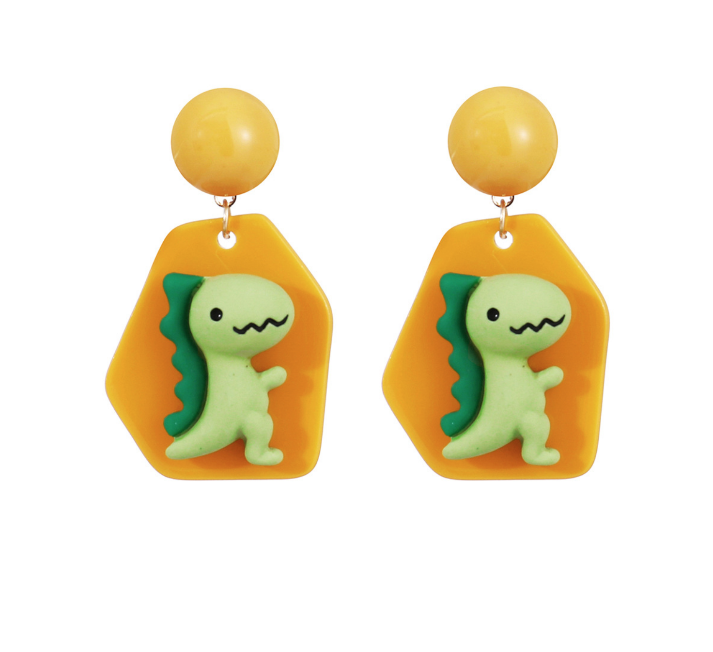 Green Dinosuar Earring