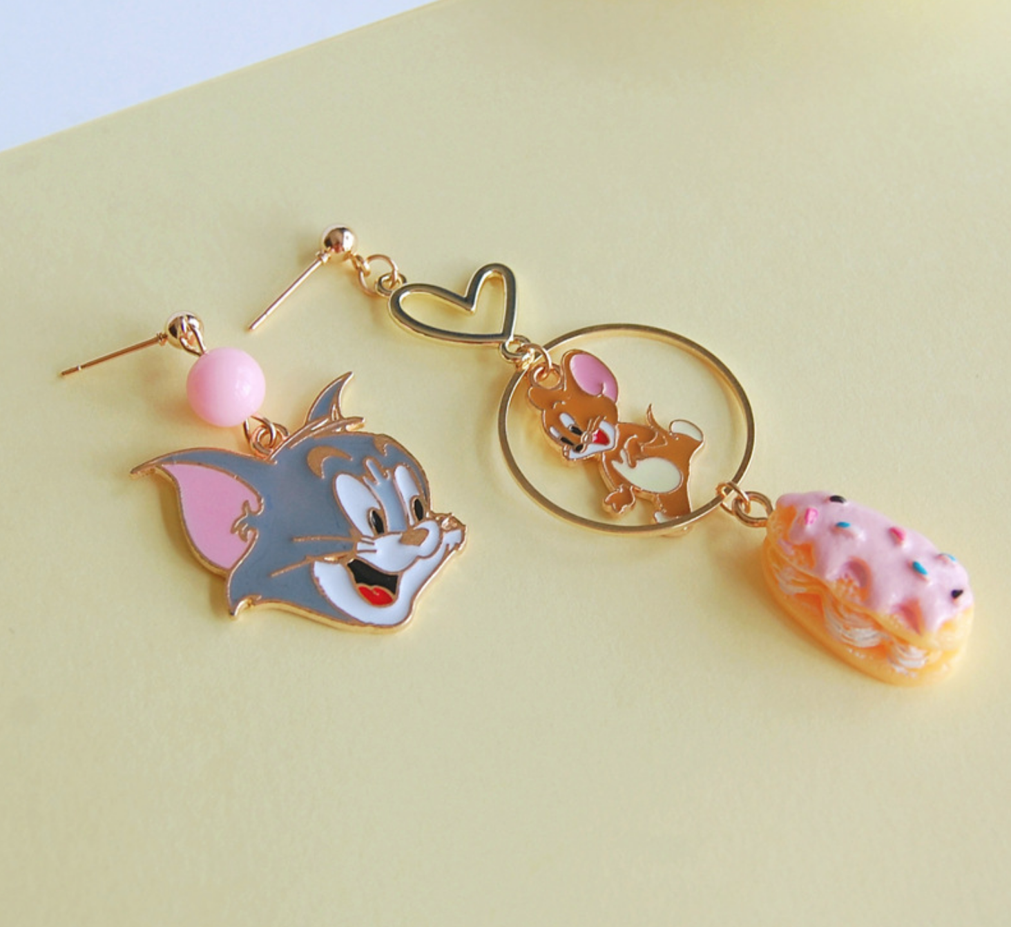 Tom and Jerry Dangle Earring
