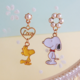 Snoopy and Woodstock Earring