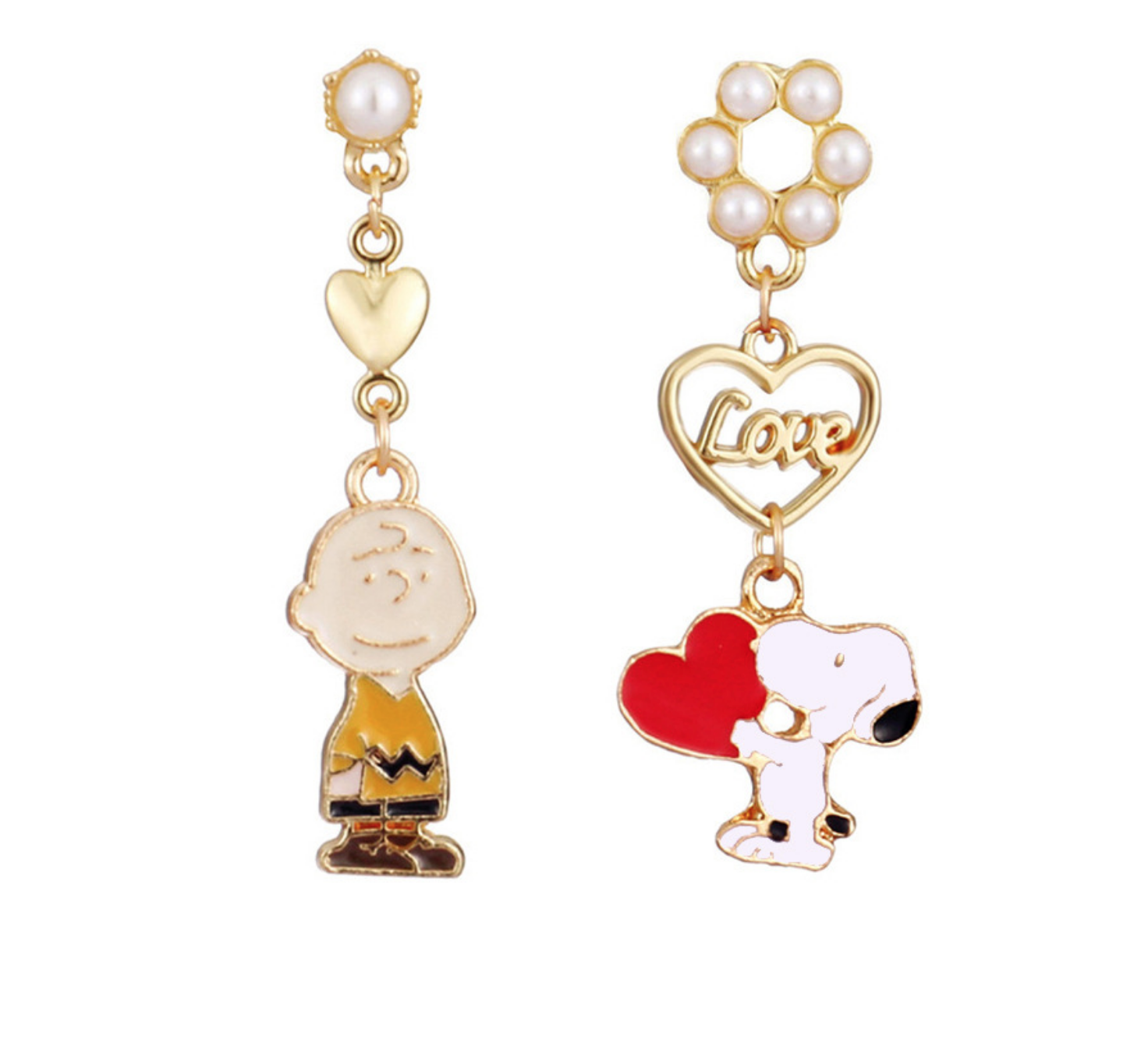 Snoopy and Charlie Earring
