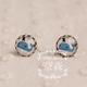 Blue Whale Earring