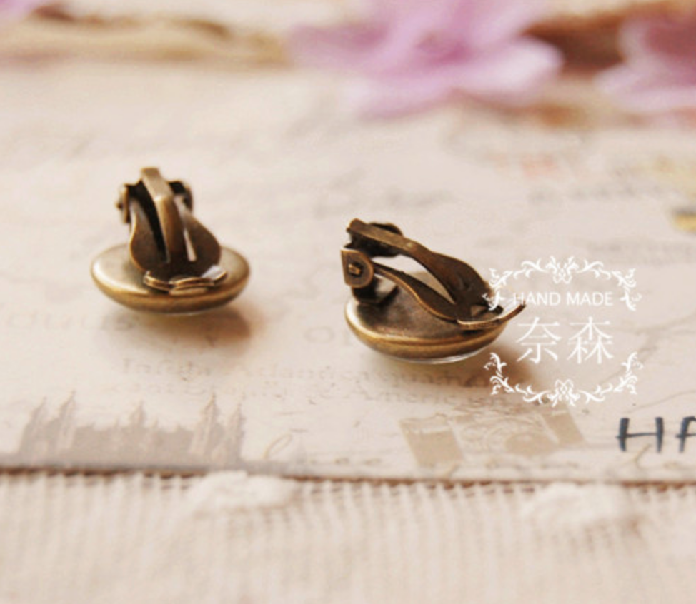 Succulent Clip On Earring